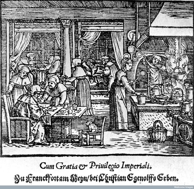 L0001286 Interior scene, 16th century hospital